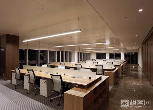 11号地铁线花桥中茵广场110平办公室出租,全新装修,近地铁,采光好-4