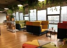 11号地铁线花桥中茵广场110平办公室出租,全新装修,近地铁,采光好
