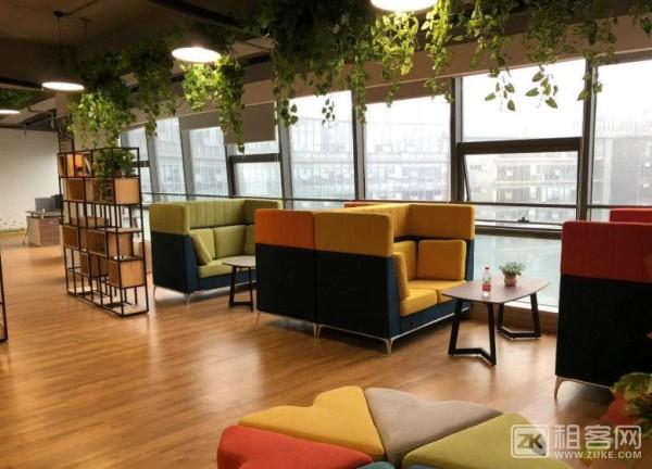 11号地铁线花桥中茵广场110平办公室出租,全新装修,近地铁,采光好-6