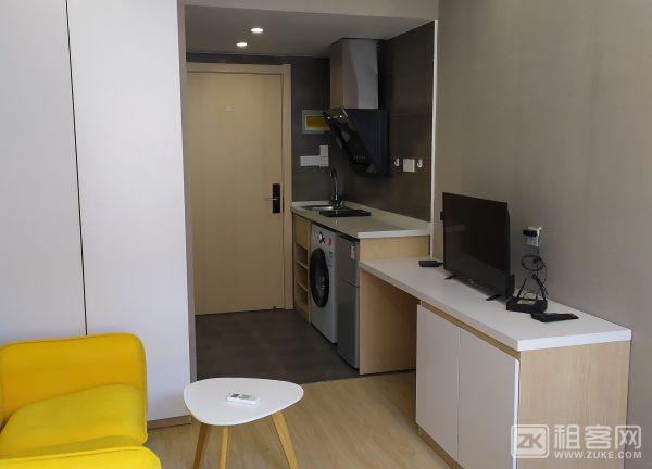城西银泰精1居中户型装公寓家电齐全拎包住-5