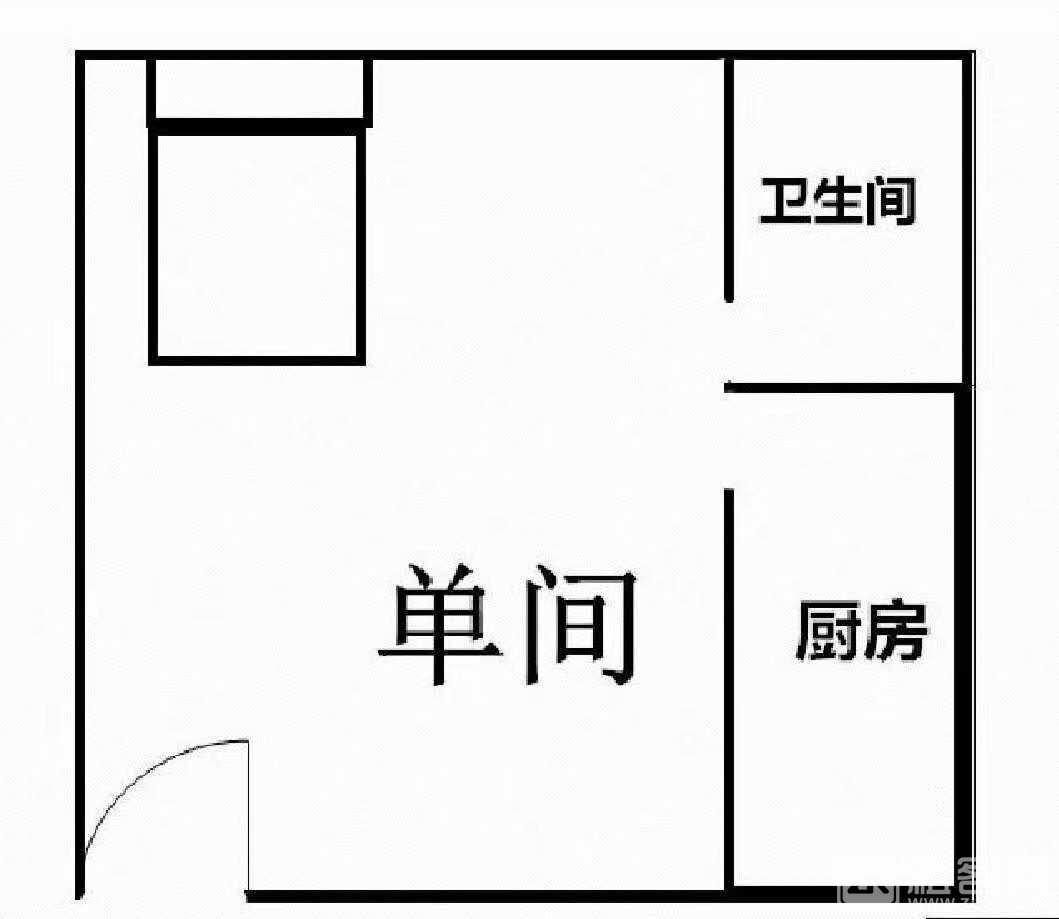 随时看房 整租 11号线桥头地铁口500米精装大单间可做饭 可押一-户型图