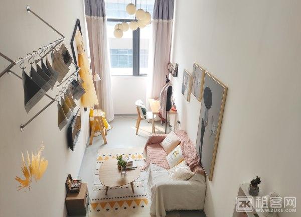 随时看房整租 精装11号线地铁口50米欧美复式,押一付一 品牌公寓 可做饭可养宠物-4